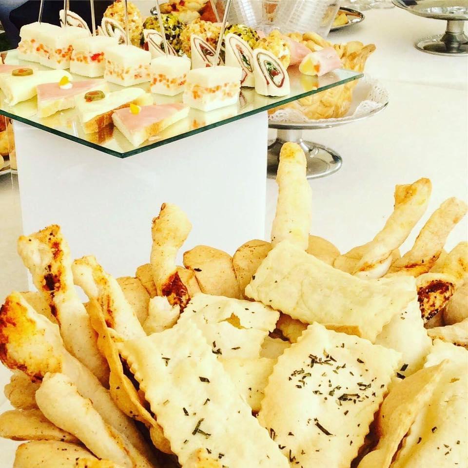 Dettaglio buffet pane e crostini - Tenuta Villa dei Fiori